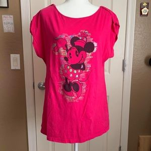 Holographic Minnie Mouse Top